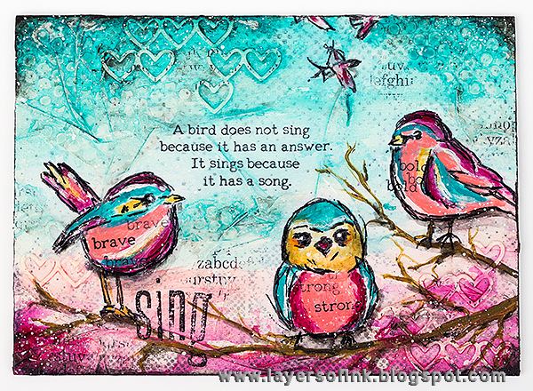 Layers of ink - Because you have a song tutorial by Anna-Karin
