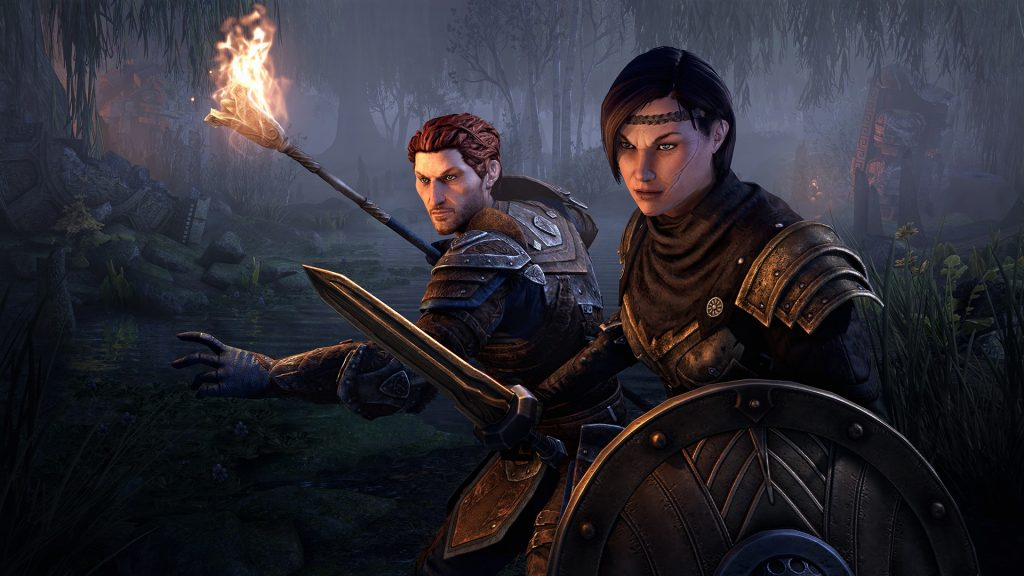 The two new companions from Blackwood: Bastian Hallix and Mirri Elendis.