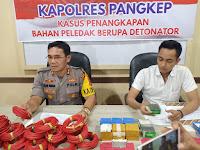 Edarkan Bahan Peledak Bom Ikan, 3 Warga Makassar Diringkus Tim Jantras Polres Pangkep