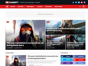 Gameify Blog & Magazine Blogger Template