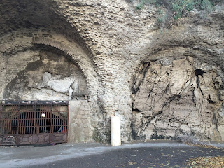 I was intrigued by the gated entrance to some caves just outside Marina di Puolo