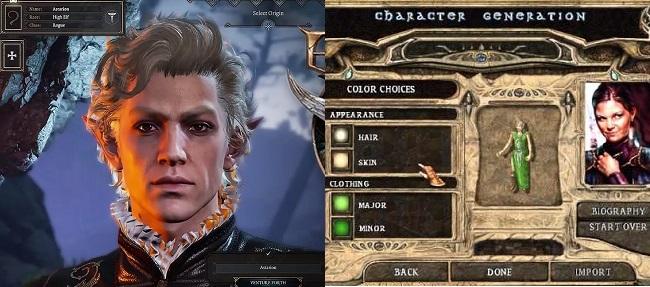 Differences between Baldur's Gate III vs Baldur's Gate II