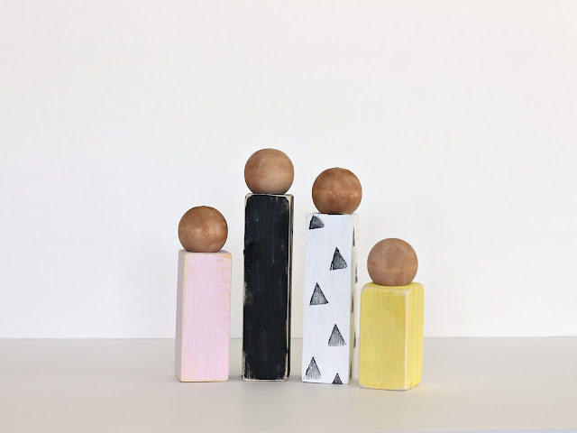CUSTOM Wooden block families by CleverNestShop on Etsy #woodblock #pegdollfamily #custompegdoll #moderndollhouse #rusticwoodenfamily #primitivewoodendolls