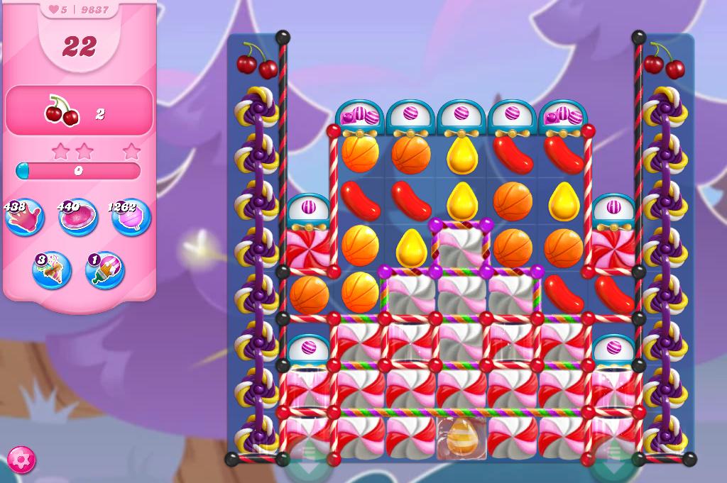 Candy Crush Saga level 9837