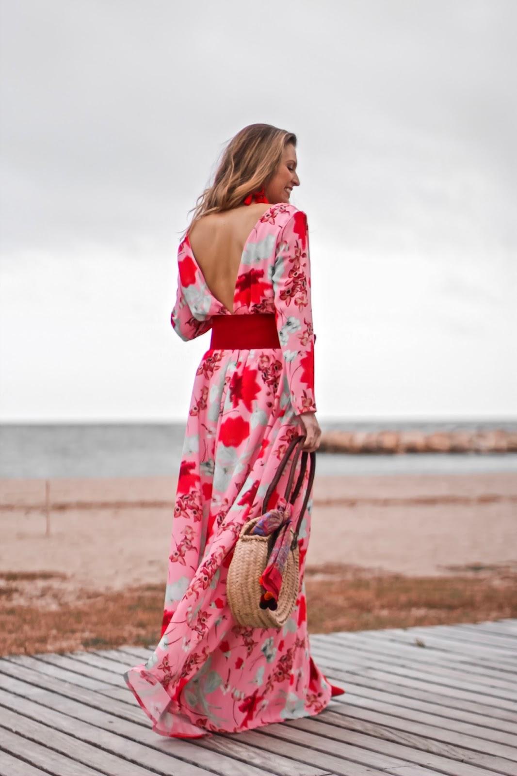 vestido largo espalda descubierta
