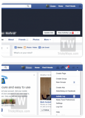 How to clear facebook activity log once you are on task log page you will have the ability to see all of your activity log on facebook while you go to that web page you can additionally ccuart Choice Image