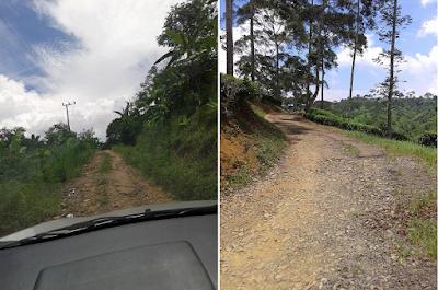 Scenic route to Gunung Padang Pyramid
