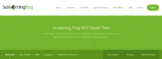 ScreamingFrog SEO Spider Tool & Crawler