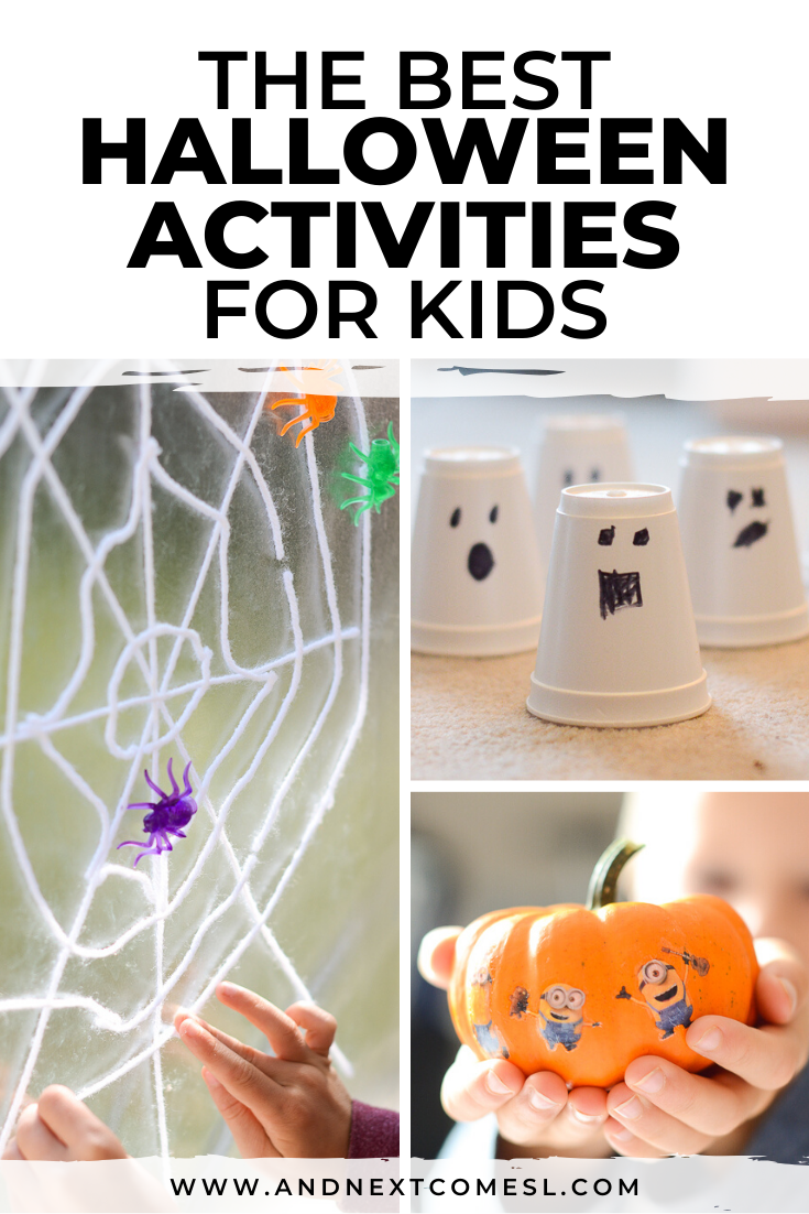 Halloween activities for kids plus fun Halloween crafts - lots of great ideas for toddlers, preschool, and kindergarten