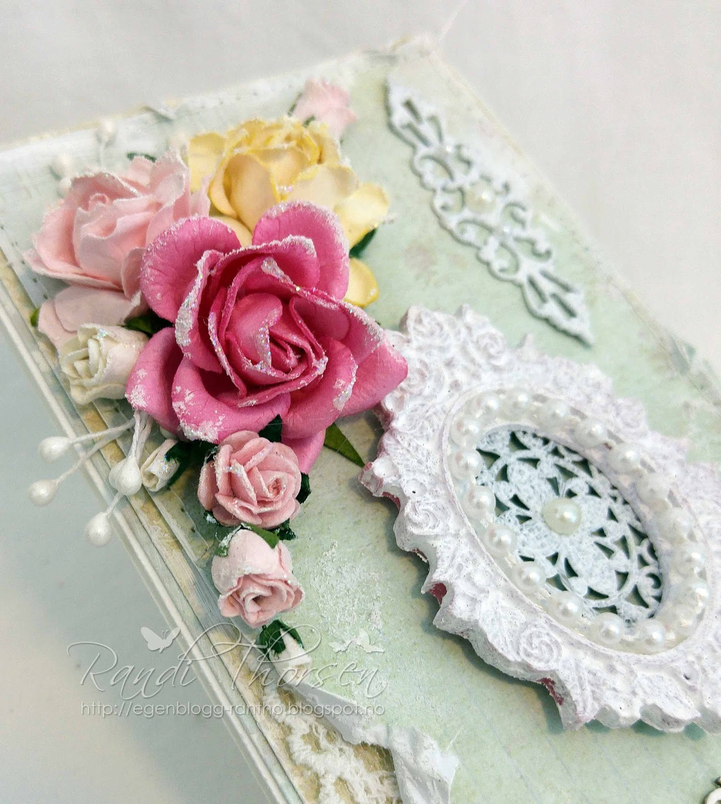 Wild Orchid Crafts: Shabby Chic Card With Metal Embellishment