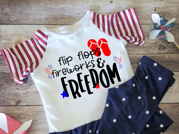 4th of July Flip Flops and Fireworks SVG