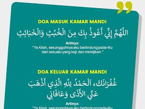 Doa Masuk Kamar Mandi dan Artinya Sesuai Sunnah
