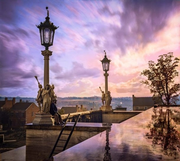 28 Realistically Colorized Historical Photos Make the Past Seem Incredibly Alive - View from the Capitol in Nashville, 1864