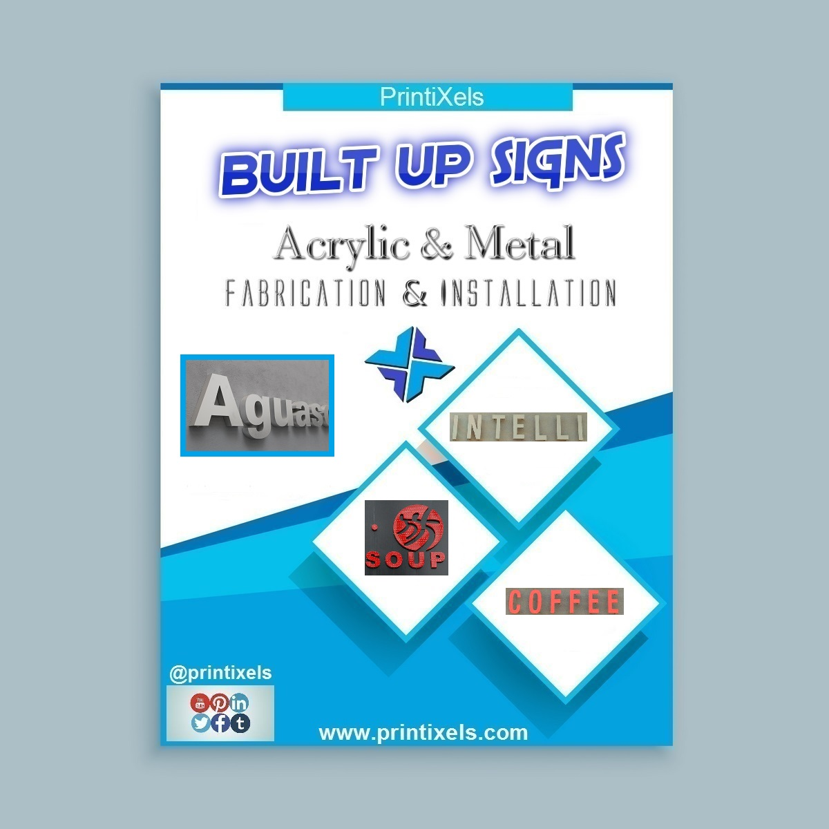 Built-Up Signs - Acrylic & Metal