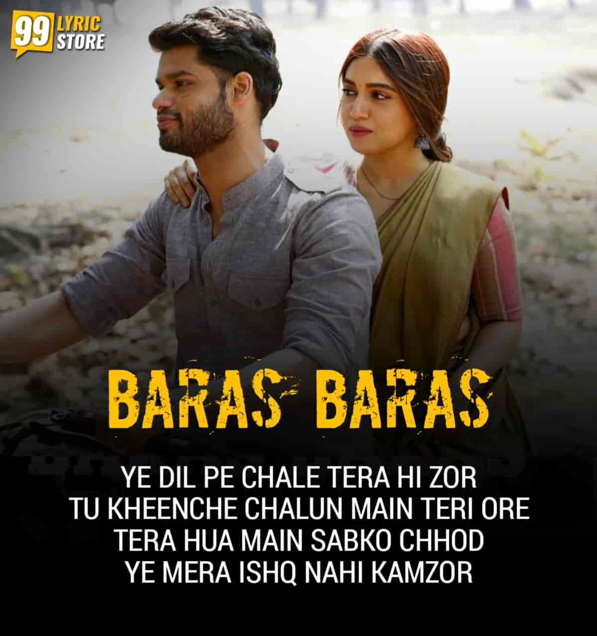 Baras Baras Hindi Song Image Features Bhumi Padnekar from movie Durgamati