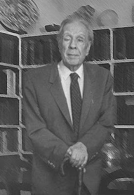 retrato de Jorge Luis Borges