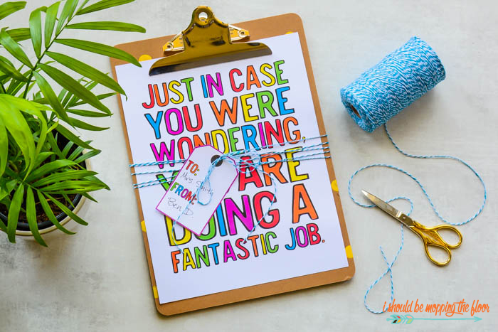 Printable Gifts for Teachers