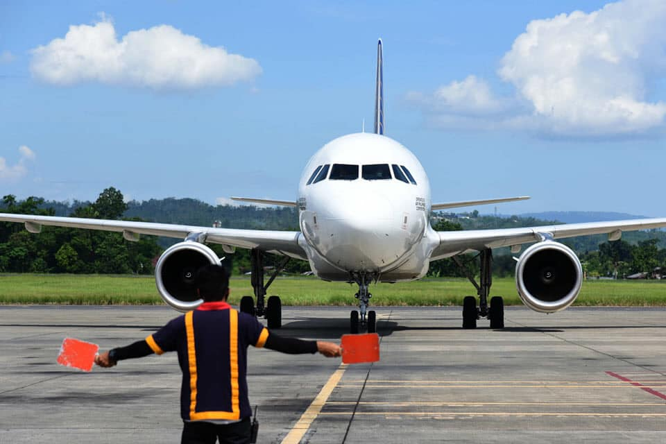 PAL A320 taxiing in DVO