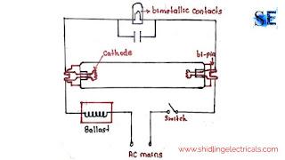 circuit diagram of tubelight