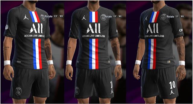 Jordan PSG 2019-2020 Fourth Kit PES 2013
