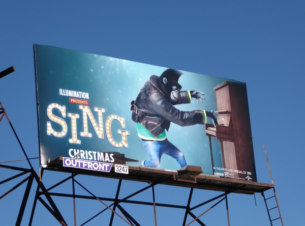 Sing Gorilla Johnny billboard