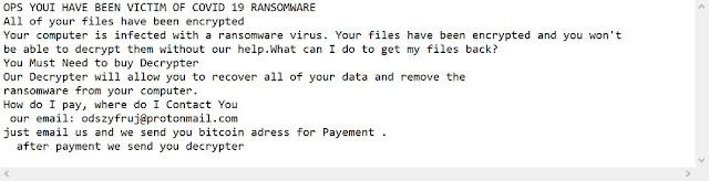 COVID 19 (Ransomware)