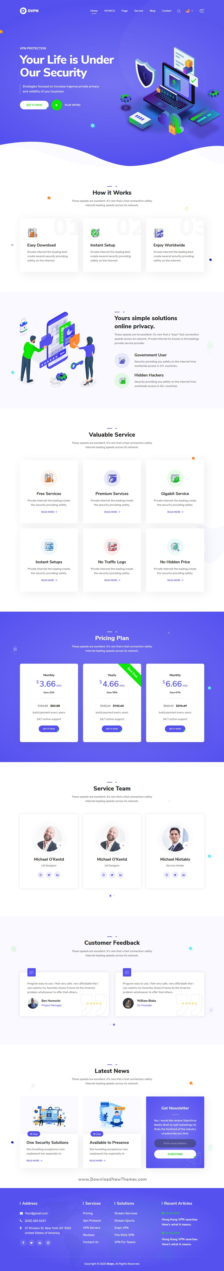 VPN and Cloud Service HTML Template