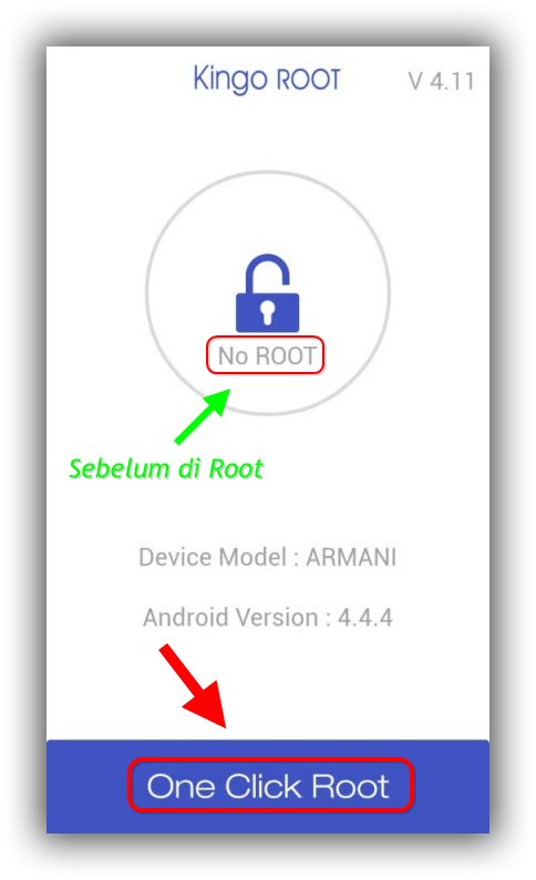 Menjalankan KingoRoot Xiaomi Redmi 1S