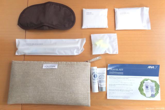 ANA-loccitane-amenity-kit 全日空のアメニティキット2