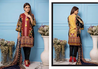 Original lawn Pakistani Suits | ZS textile Sahil lawn 2