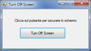 Turn Off Screen