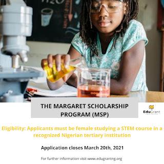 Margaret Scholarship Program (MSP) 2021 for UG Female Students