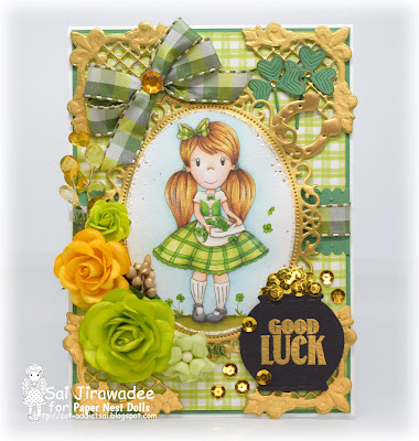 PND Ellie with Clovers St Patrick's Day card
