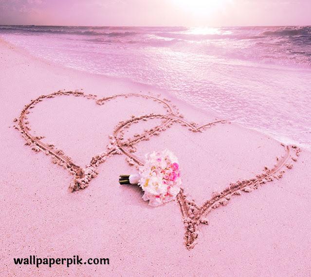 love heart sea water beach san heart image