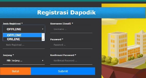 Registrasi online dan offline