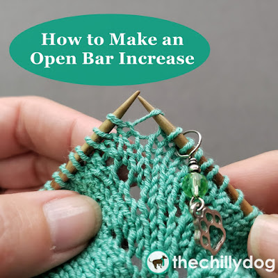 Knitting Video Tutorial: Learn how to do an open bar increase, also known as a the open make 1, make 1 open and decorative raised increase
