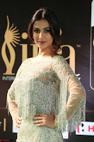 Sonal Chauhan in a stonework Floor Length Silver Designer Gown at IIFA Utsavam Awards March 2017 018.JPG