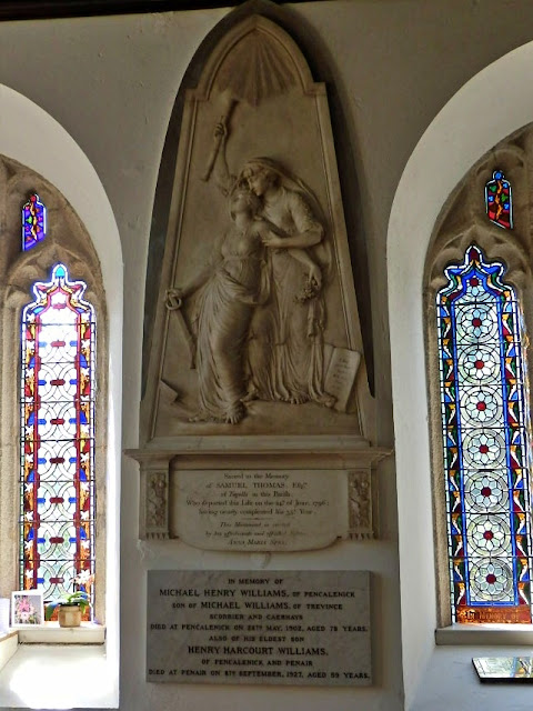 Marble memorial to Samuel Thomas 1796