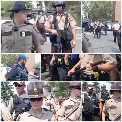 Police Mob Stalks Native Youth. Provokes Arrests of Water Protectors.