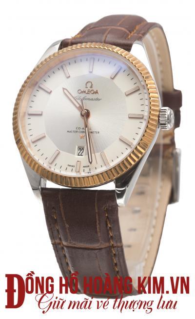 đồng hồ nam dây da omega giảm giá cao cấp