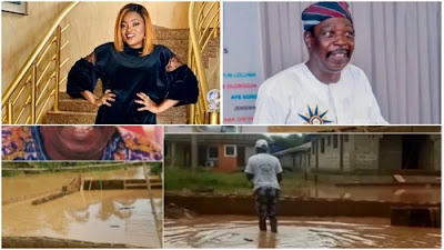 Top Nollywood actress, Funke Akindele has come to the rescue of veteran actor, Kayode Olasehinde 'Ajirebi' aka Pa James after flood took over his home.