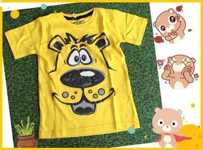 Jual Baju Anak Kaos Yellow Doggy (Kids) - 12360