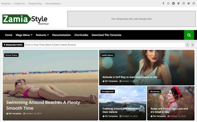 Zamia Style Premium Template