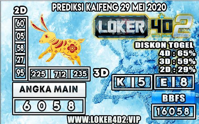 PREDIKSI TOGEL KAIFENG LOKER4D2 29 MEI 2020