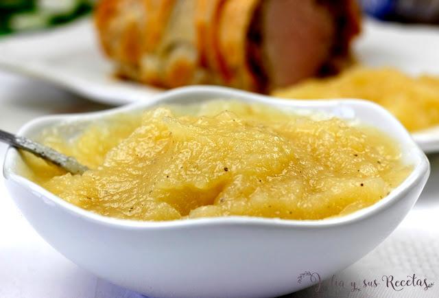 Puré de manzana para guarnición de carnes. Julia y sus recetas