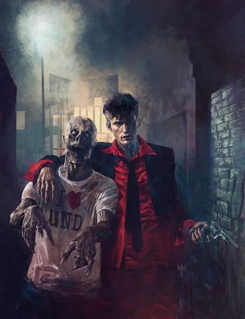 Dylan Dog - Il pianeta dei morti #5 - Saluti da Undead (cover originale di Marco Mastrazzo)
