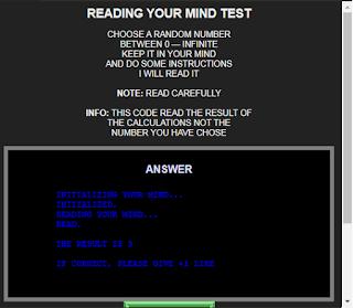 I'm Reading Your Mind