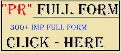 pr full form