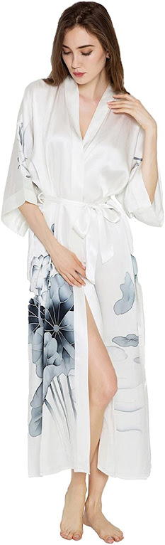 Good Quality White Silk Robes For Women