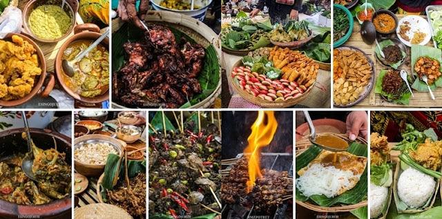 aneka kuliner di Pasar Wit-Witan Singojuruh.